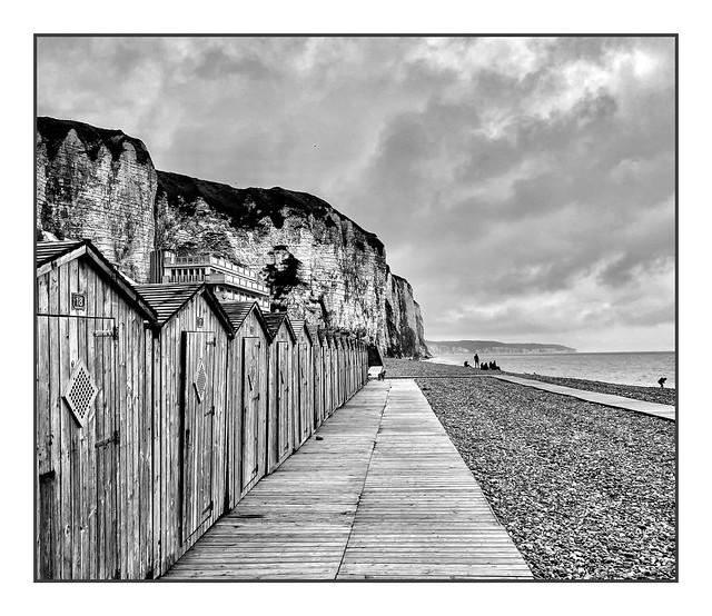 Les Cabines de bain sur la plage de Dieppe