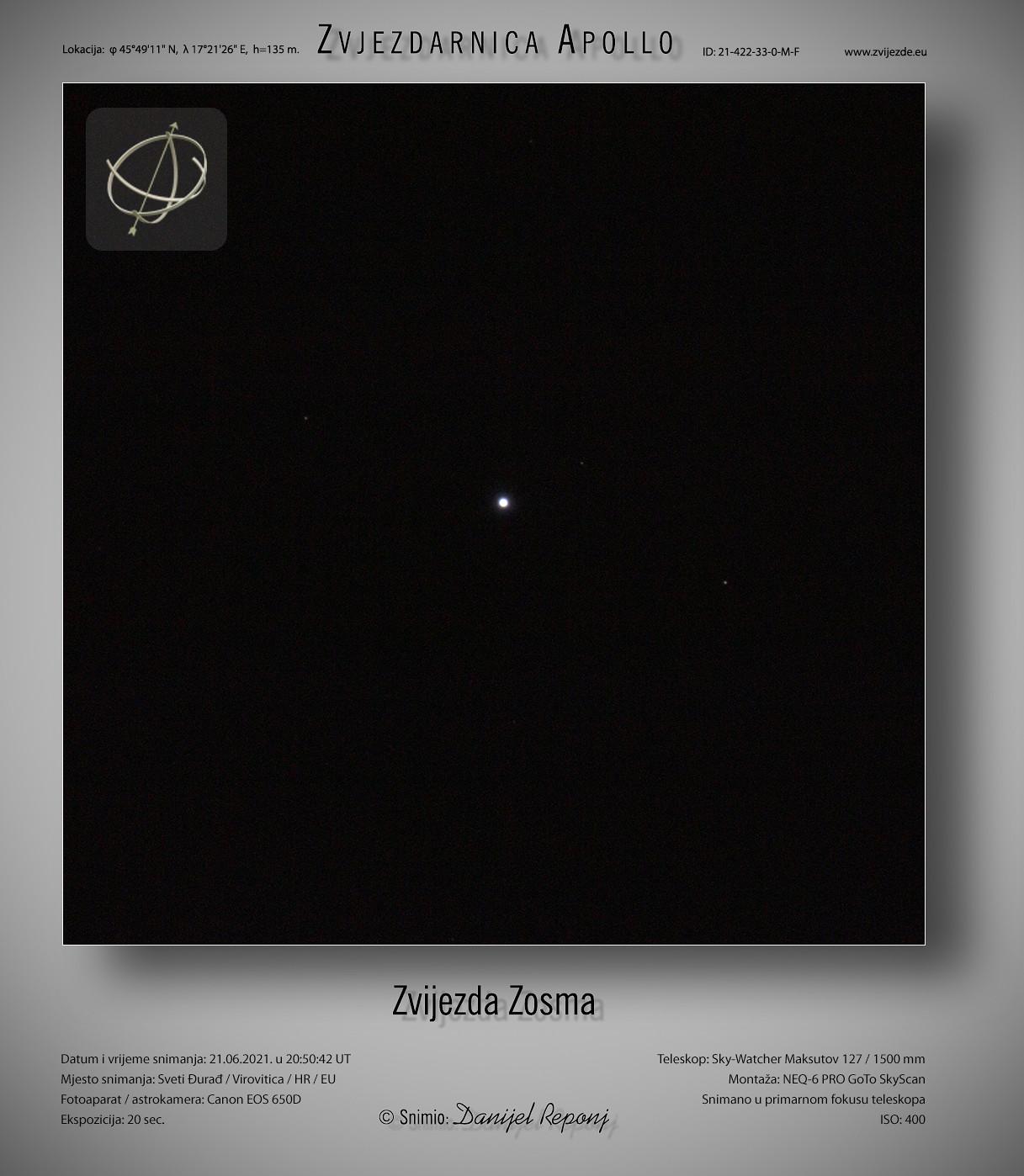Zvijezda Zosma, 21.6.2021.