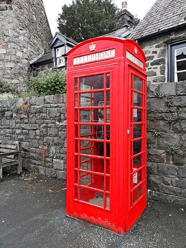 Traditional red phone box