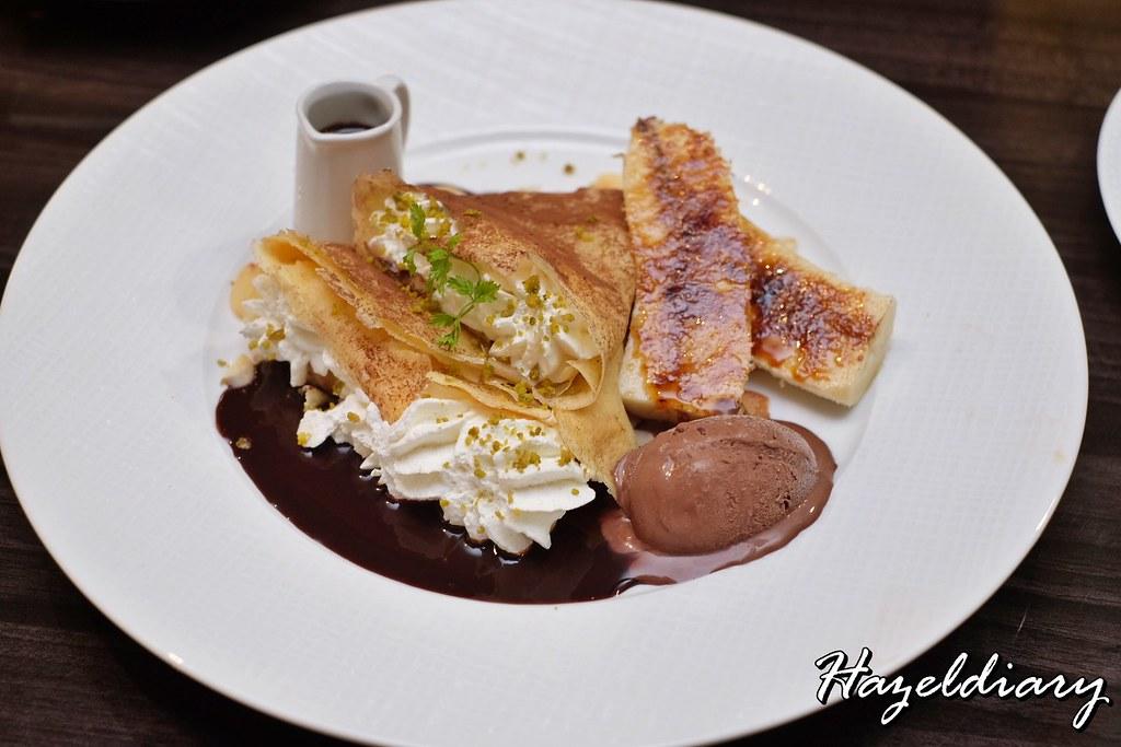 cafe aux bacchanales- Crepe Au Chocolat
