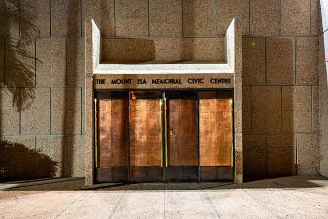 Bold Copper Doors (Mount Isa Memorial Civic Centre, North West Queensland)