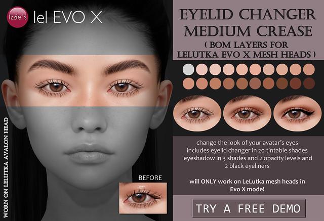Eyelid Changer Medium Crease (LeLutka Evo X)