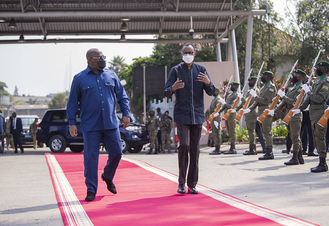 President Kagame receives Felix Tshisekedi of DRC in Rubavu, 25th June 2021