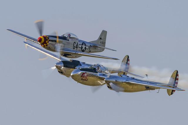 Lockheed P-38 Lightning + North American P-51D Mustang - The Flying Bulls