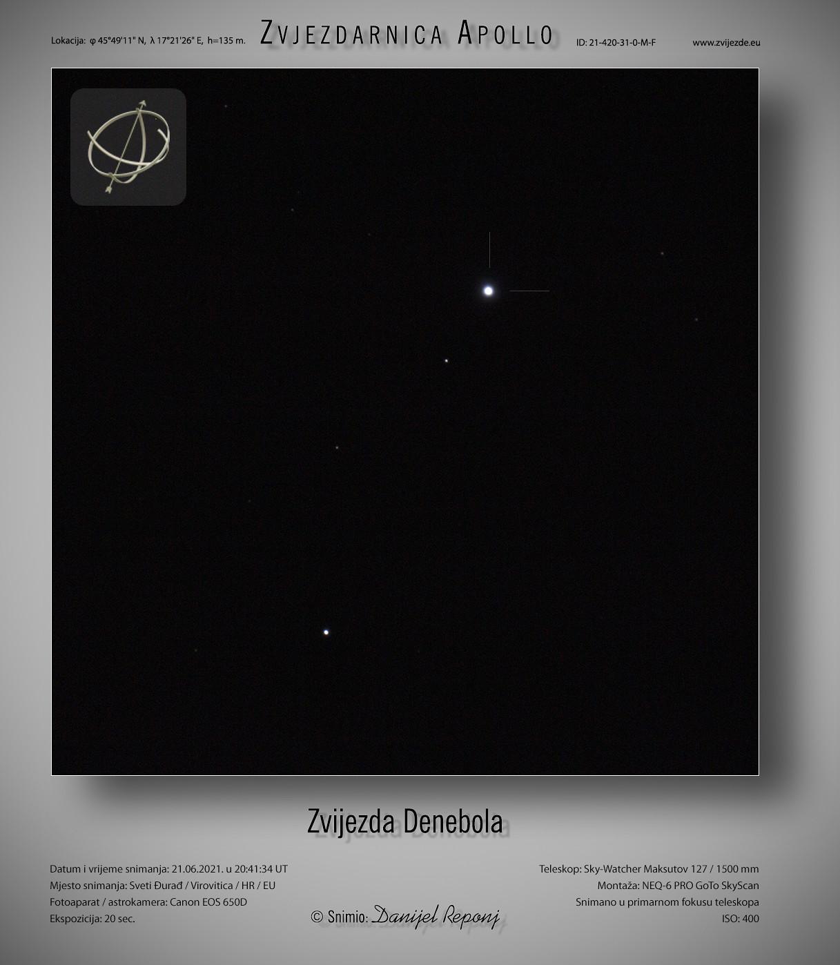 Zvijezda Denebola, 21.6.2021.
