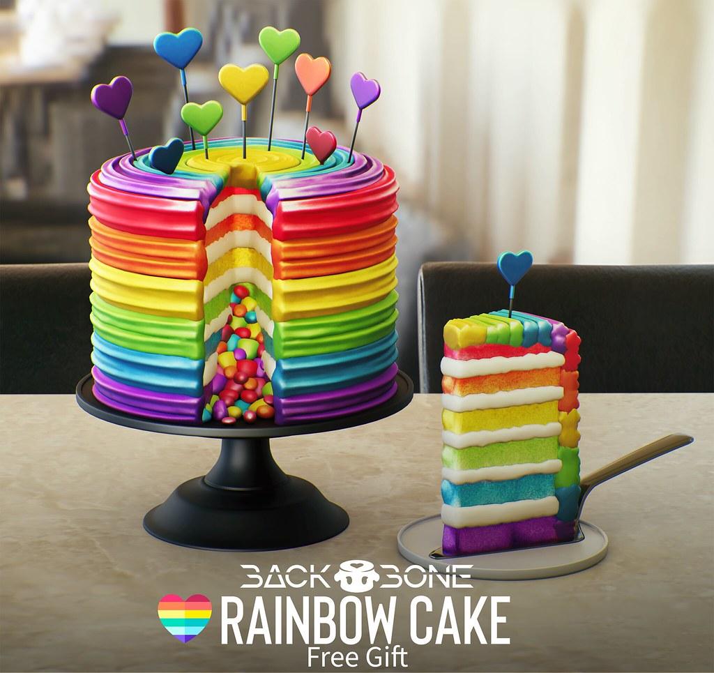 BackBone Rainbow Cake