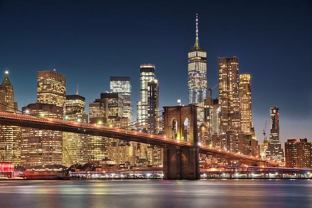 Brooklyn bridge and the blue hour