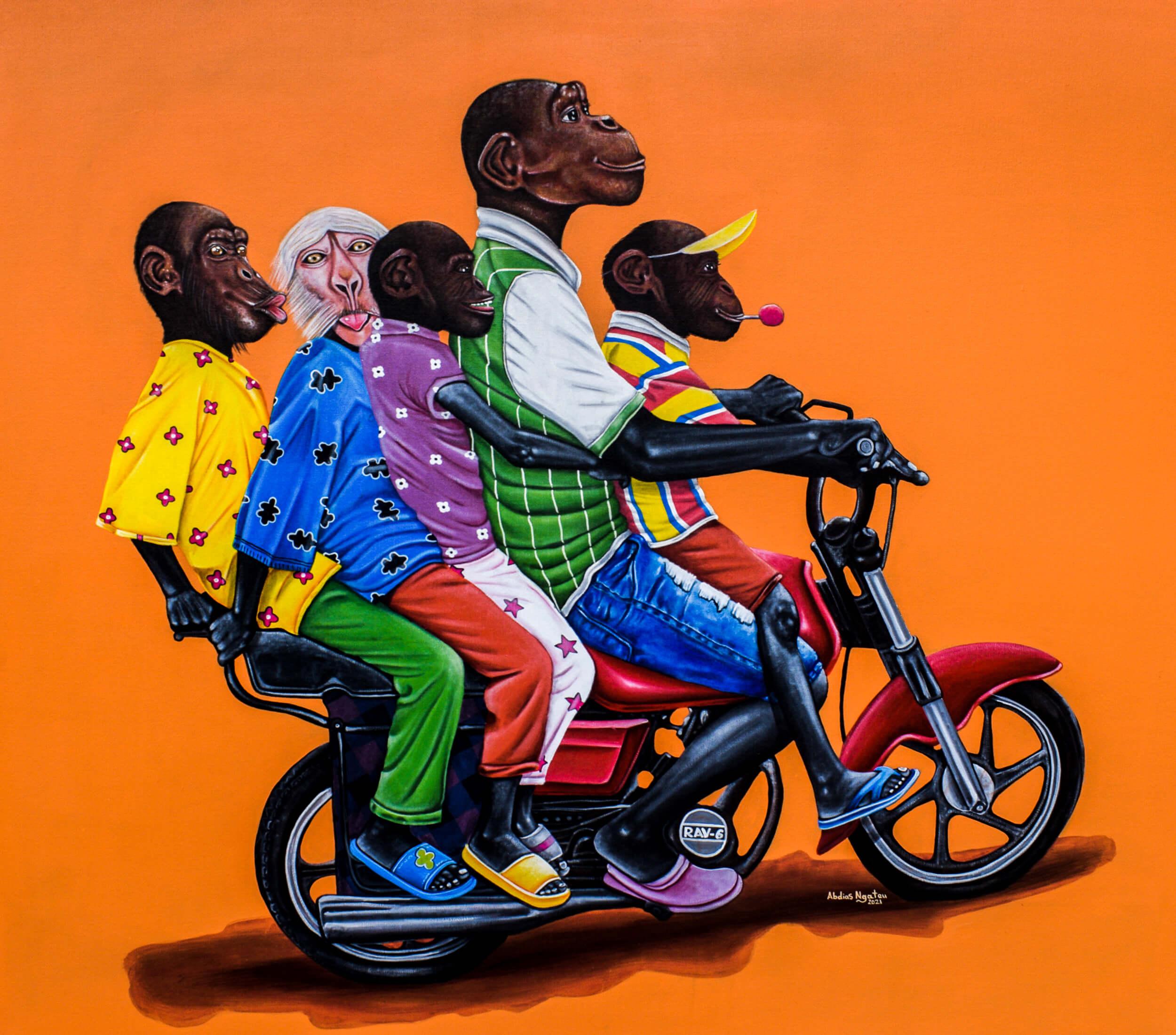 artsy-Abdias Ngateu - La R.A.V 6 - 2021 - 120cm H x 140cm W - Acrylic on canvas-2105