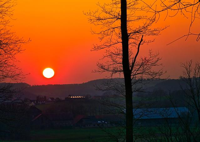 Sonnenuntergang im Ruhrtal