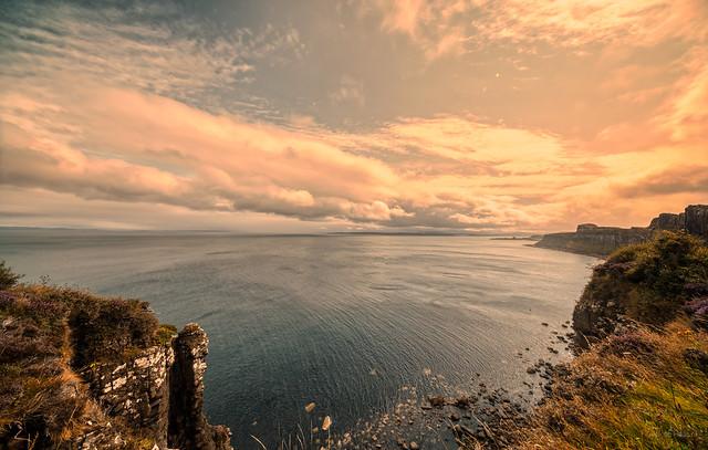 The Sea and Sky of the Isle of Skye, Scotland.