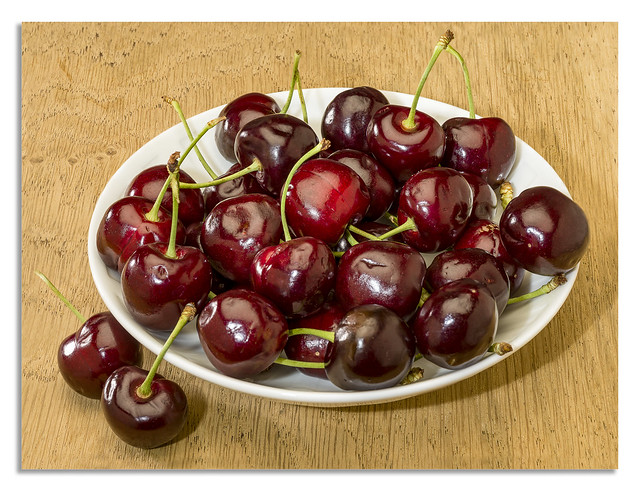 Over flowing with cherries.