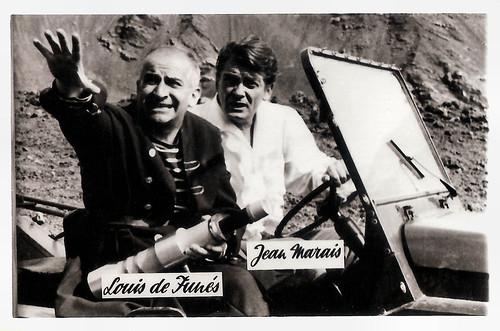Louis de Funès and Jean Marais in Fantômas se déchaîne (1965)