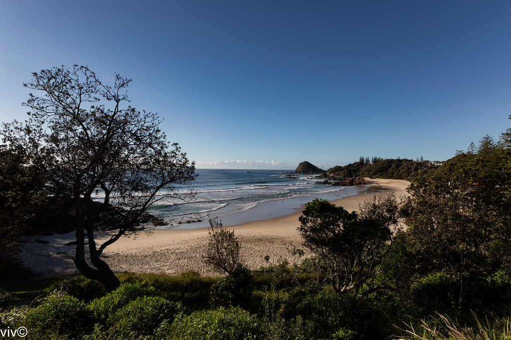 Picturesque beach at dawn, Port Macquarie, New South Wales, Australia