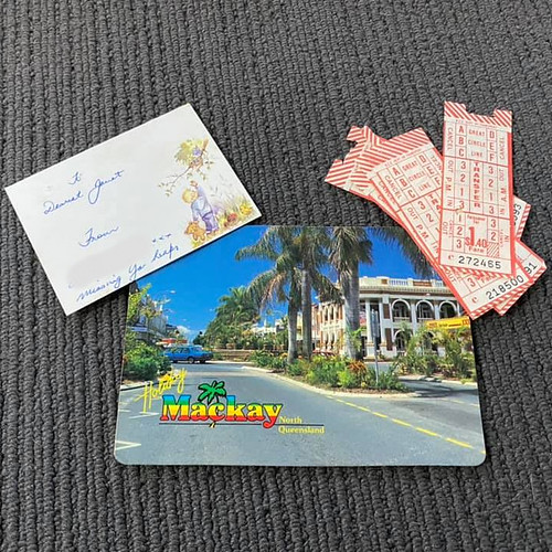 love notes, bus tickets and a postcard