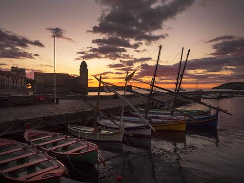 collioure amanecer sunrise albada pirineusorientals francia france frança