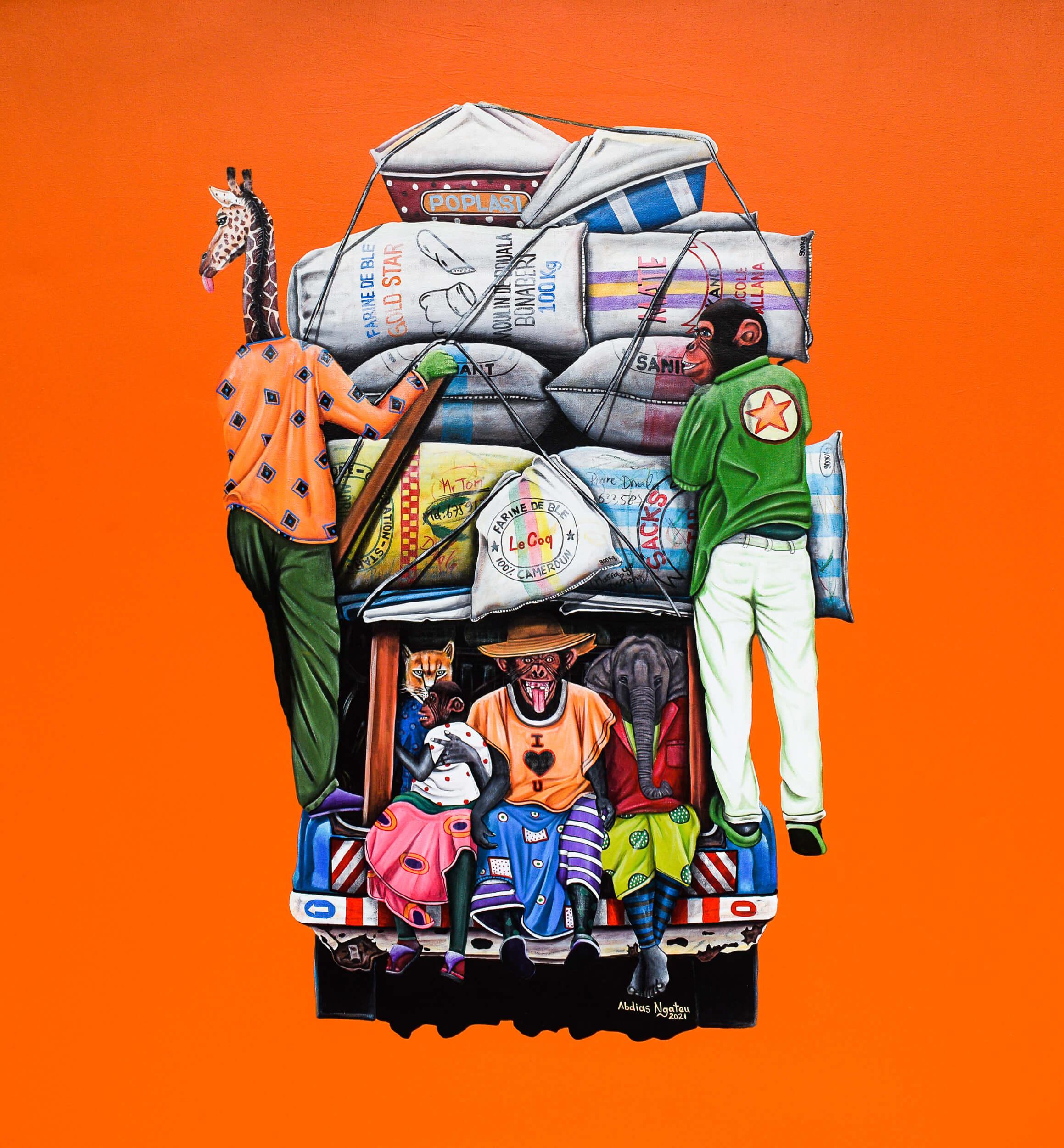 artsy-ABDIAS NGATEU_l'Opep 2_acryliques sur toile_150 x 140 cm_2021-Modifier-2103
