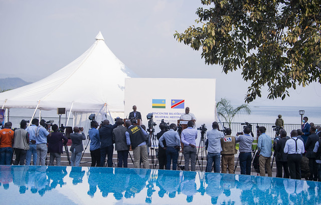 Presidents Kagame and Tshisekedi hold a press briefing after a tête-à-tête in Goma | Goma, 26 June 2021