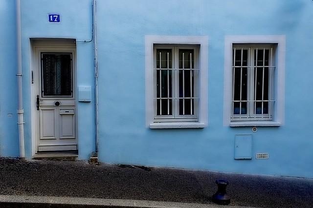 Maison bleue à la Butte-aux-Cailles
