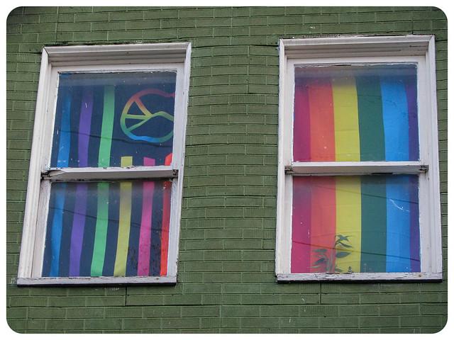 Peace and Pride Windows