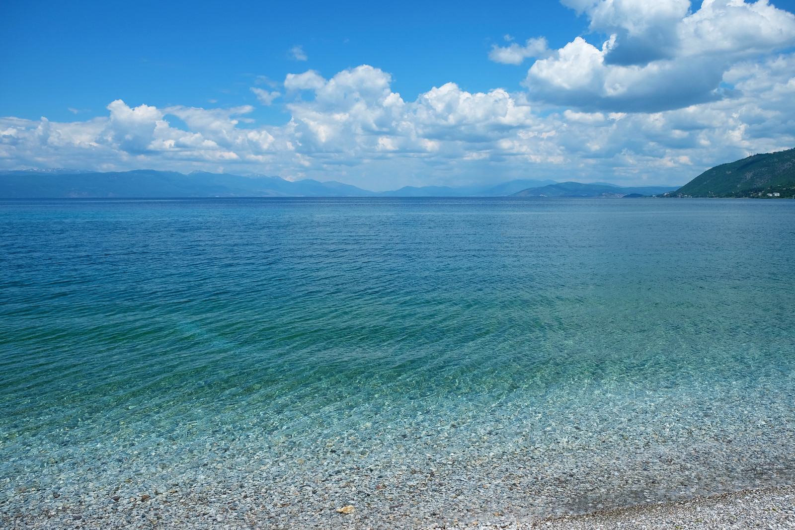 Gradishte beach, Lake Ohrid, North Macedonia