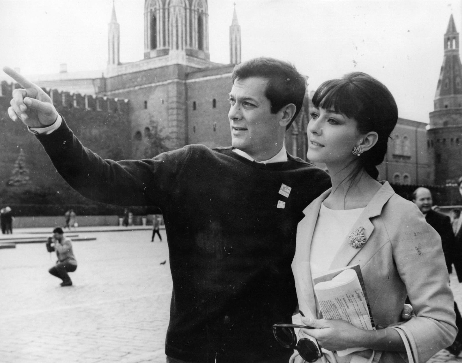 04. Тони Кертис и Кристин Кауфманн на Красной площади