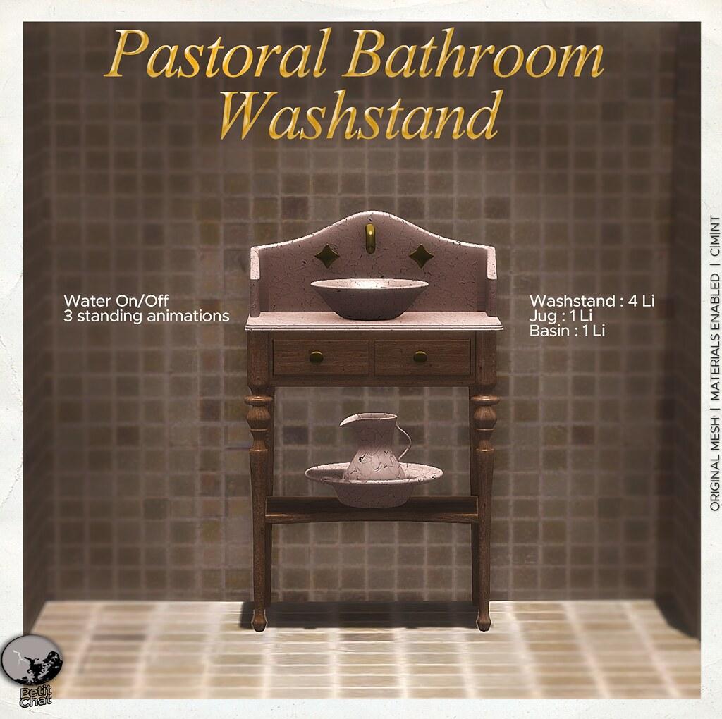 Pastoral Bathroom Washstand @ Uber Hometown