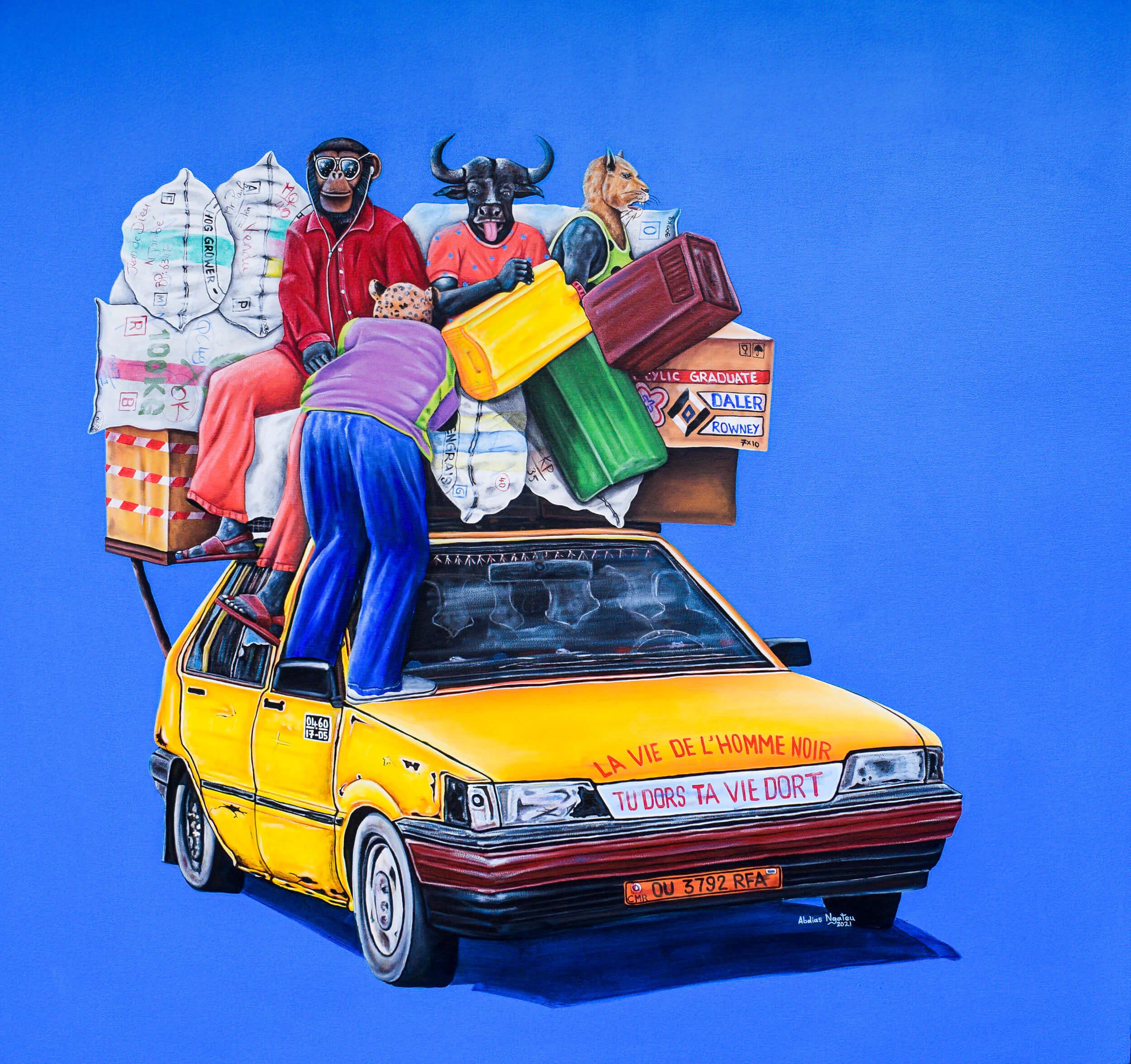 artsy-ABDIAS NGATEU_taxi brousse 3_acryliques sur toile_150 x 140 cm_2021-Modifier-2104