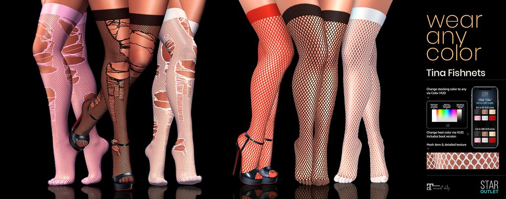 Star Outlet Tina Fishnet Stockings