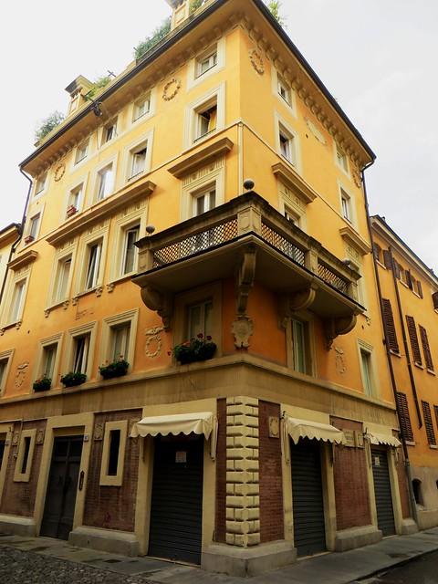 A l'angle de la via Castelmaraldo et de la via Ganaceto, Modène, Emilie-Romagne, Italie.
