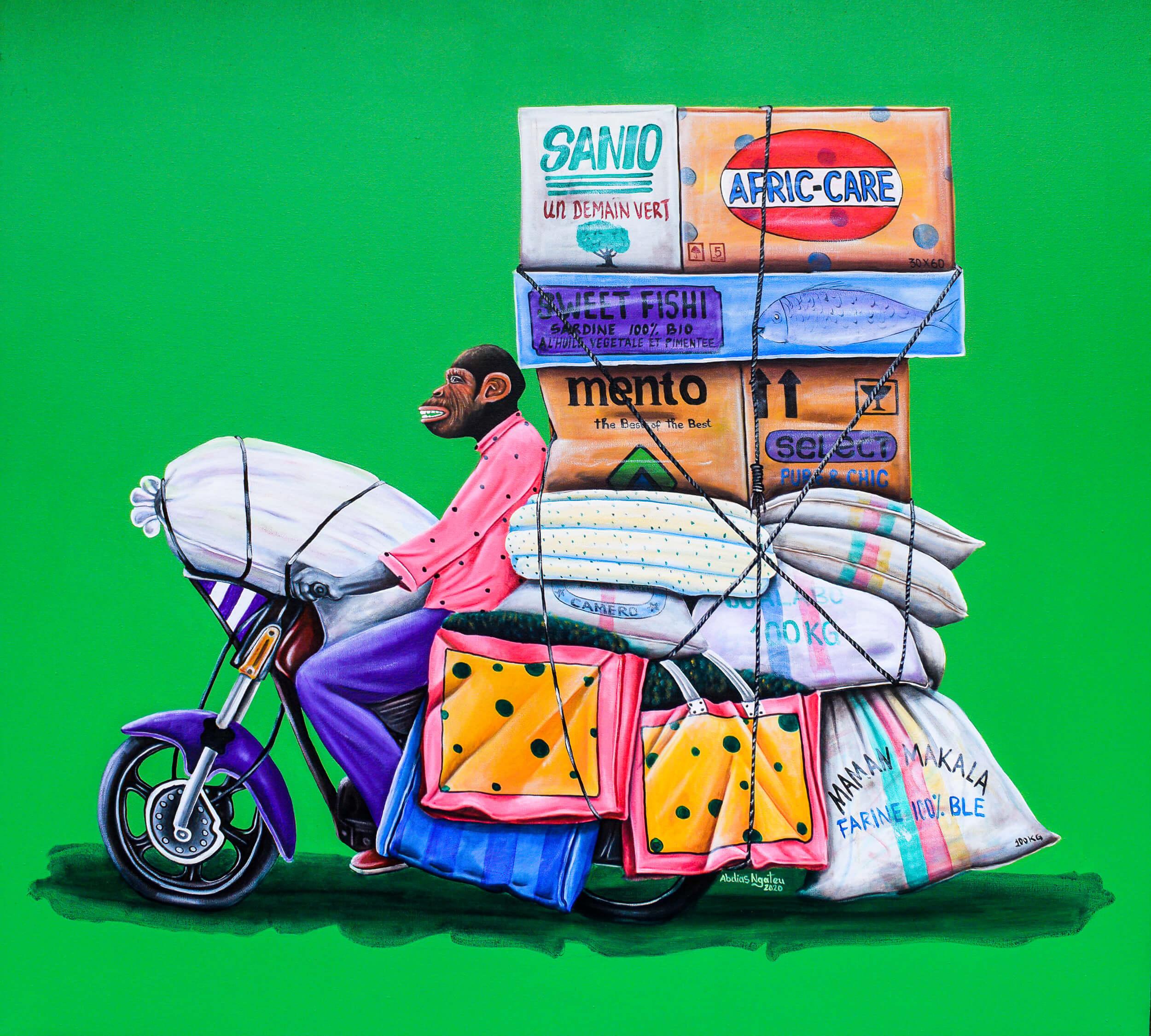 artsy-ABDIAS NGATEU_le coursier 1_acryliques sur toile_130 x 120 cm_2021-Modifier-2102