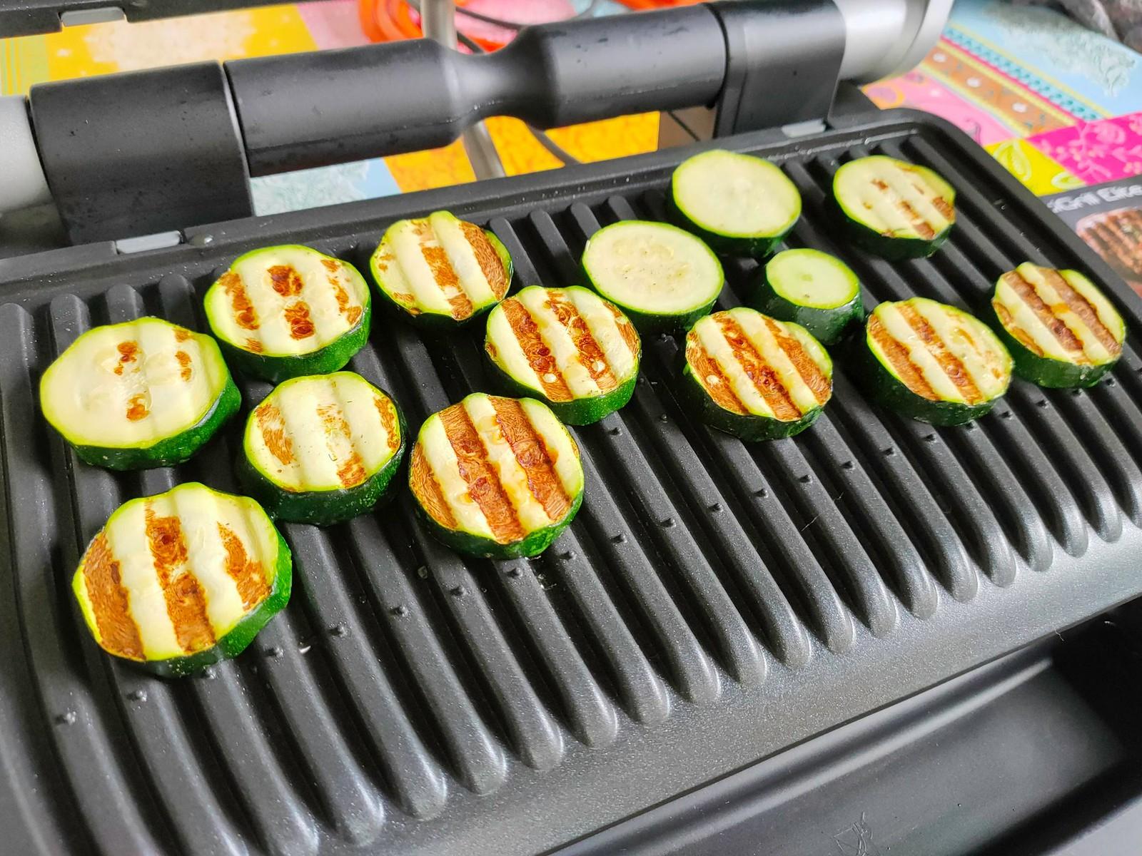 Fast fertig: Zucchini - Tefal Optigrill Elite XL