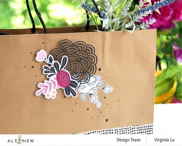 Atenew-Wildflower Collection Paper & Ephemera Bundle -Many Dots Washi Tape -003