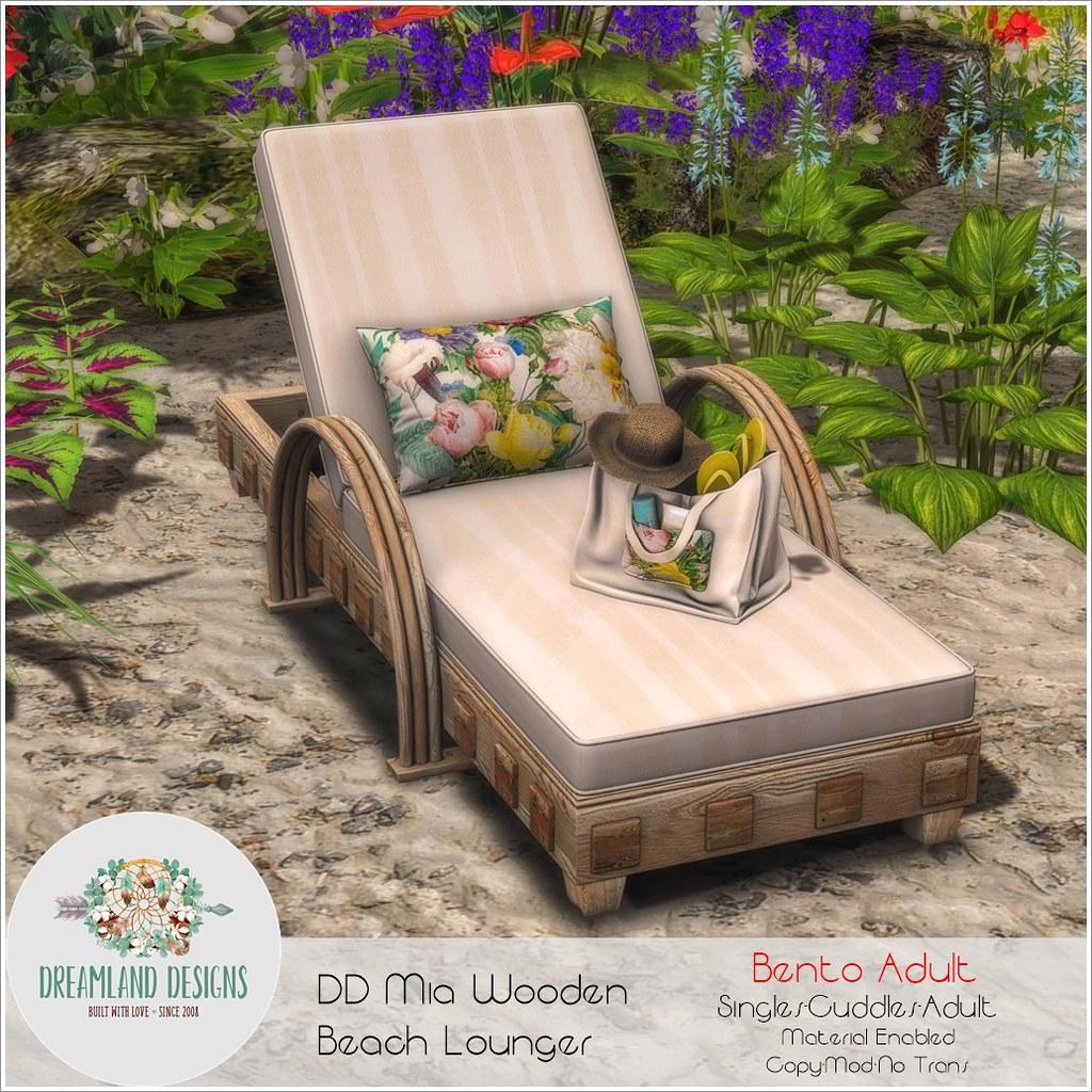 DD Mia Wooden Beach Lounger-Adult