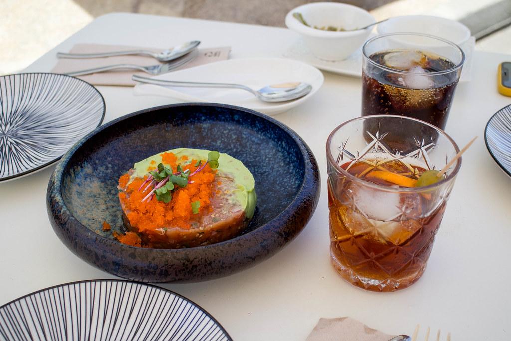 Tartar de atún en restaurante Citurna en Playa Blanca