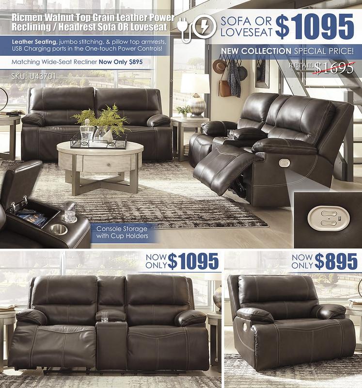 Ricmen Power Reclining Sofa OR Loveseat Layout_U43701-47-18-82-T673_June2021