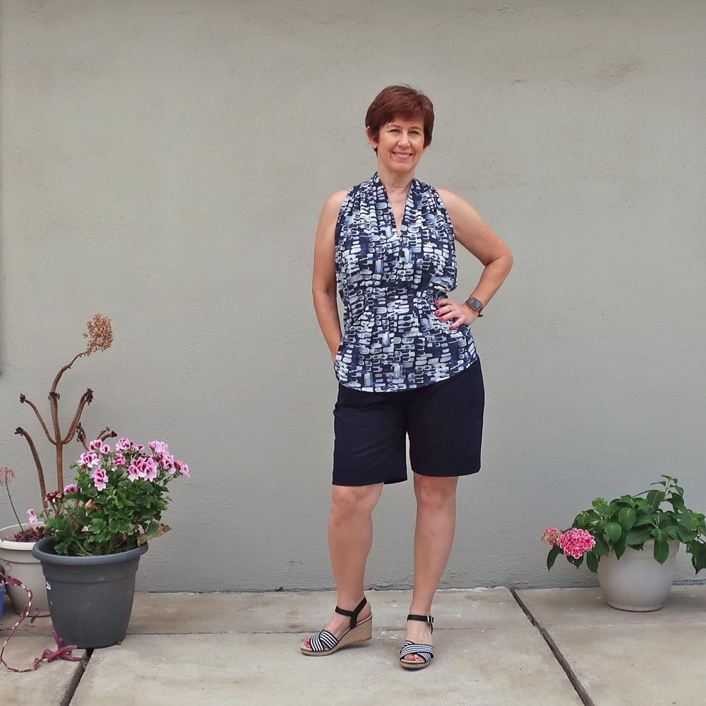 Tatjana shorts2 with Burda top