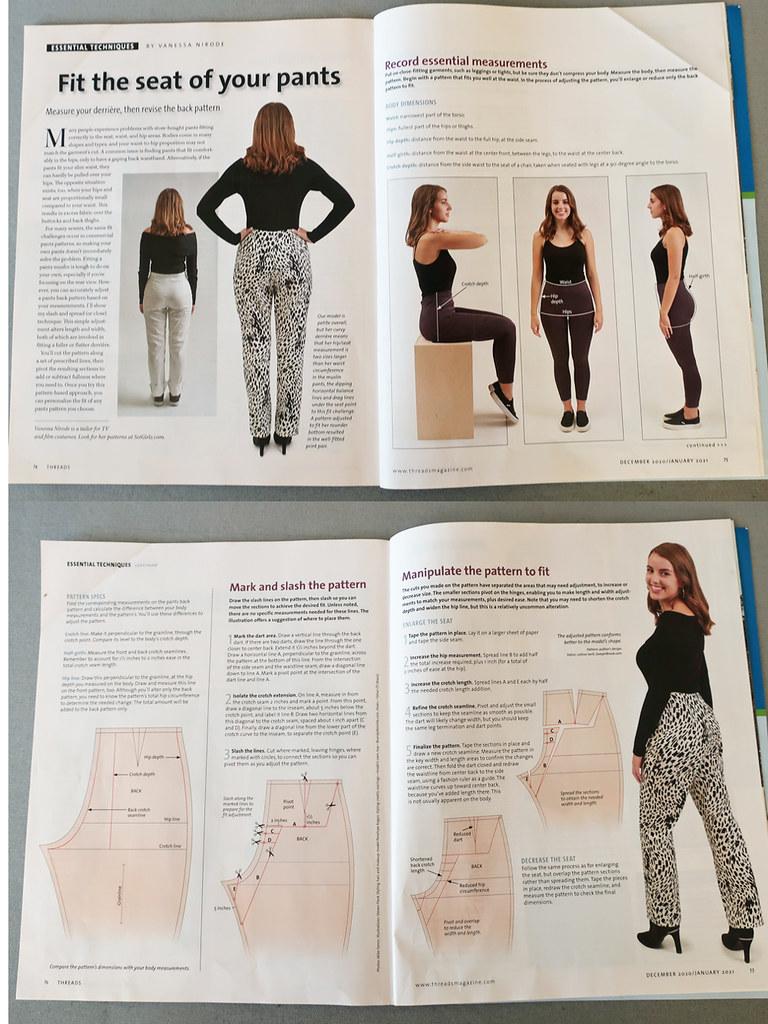 Pants fitting diagrams