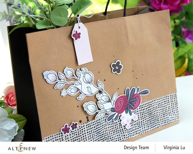 Atenew-Wildflower Collection Paper & Ephemera Bundle -Many Dots Washi Tape -002