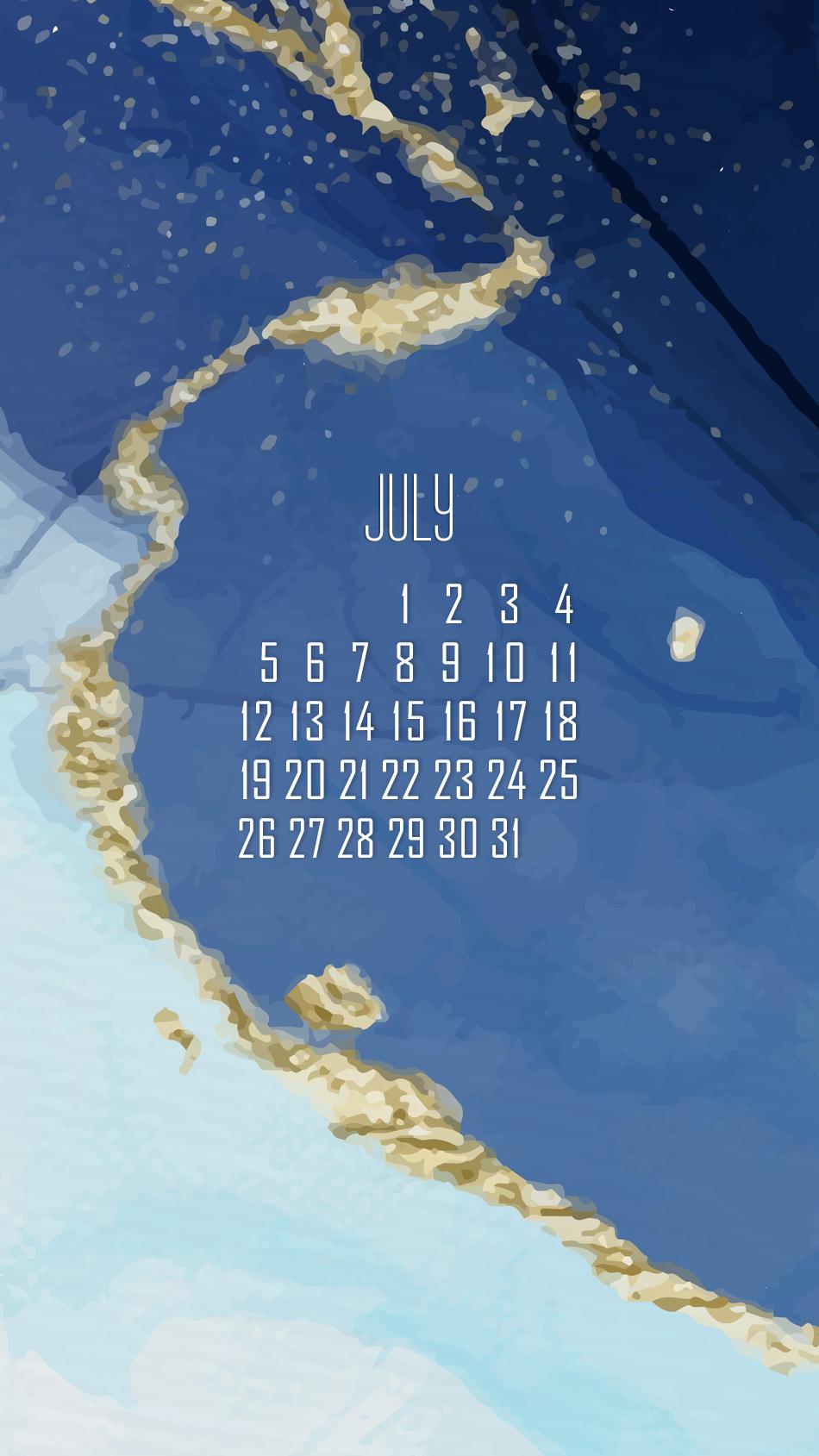 заставка на смартфон, district-f.org календарь на июль 6