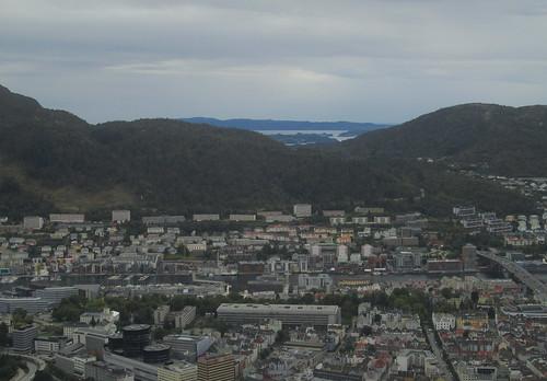 View of Part of Bergen from Mount Fløyen