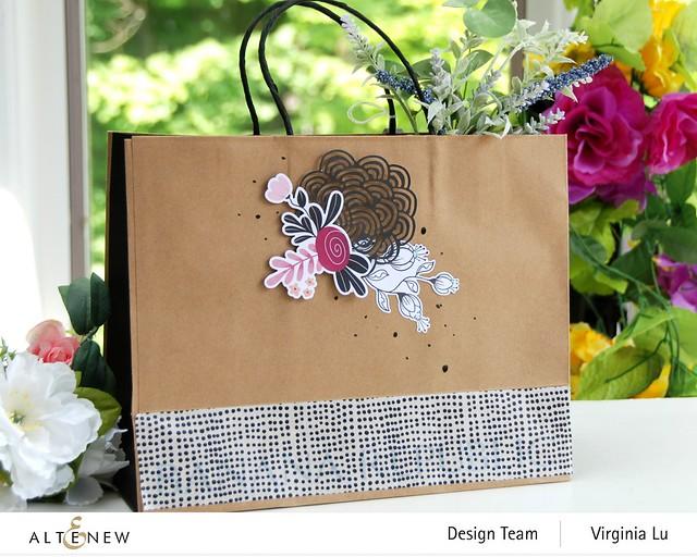 Atenew-Wildflower Collection Paper & Ephemera Bundle -Many Dots Washi Tape -001