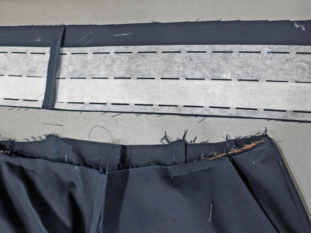 Shorts waistband interfacing