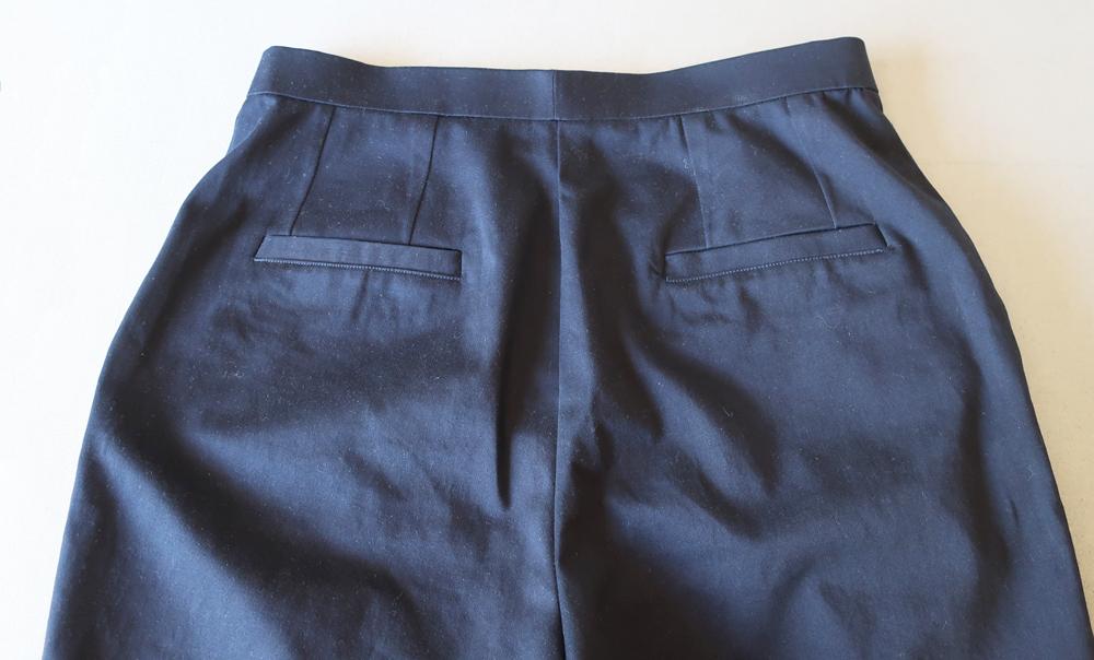 blue shorts back
