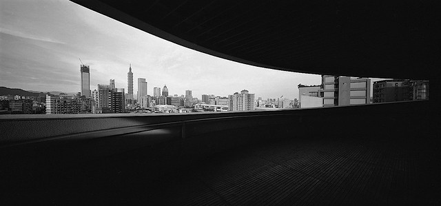 another shot of the Taipei skyline, a terrace with a view