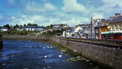 Garavogue River and riverfront buildings, Sligo, Connacht, Ireland.