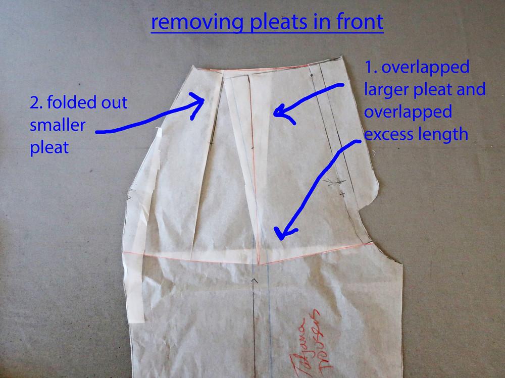 Tatjana removing pleats