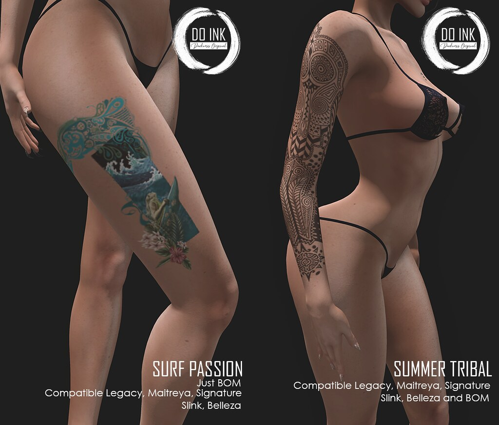 DO INK TATTOO SURF PASSION AND TATTOO SUMMER TRIBAL FOR MIIX EVENT