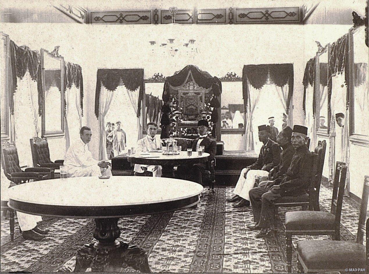 Визит к тунгку-бесару (правителю). Суматра