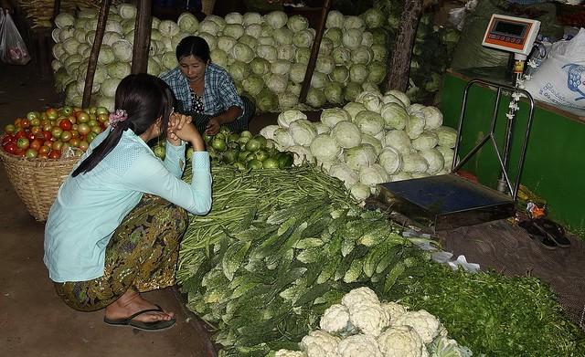 MYANMAR,Burma- Auf dem Markt Nyaung-Oo bei Bagan, 78379/13798