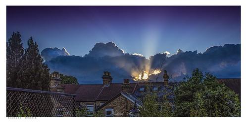 sky sunset eynsford kent england uk richard murrin art